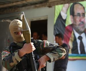 An Iraqi Shiite Turkmen gunman in the village of Taza Khormato, in the oil rich province of Kirkuk, Iraq, on June 20, 2014.