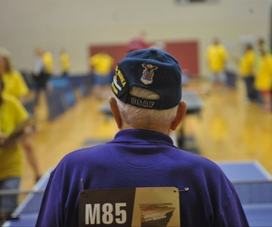 An Air Force veteran participates in the VA's 28th Annual National Veterans Golden Age Games.
