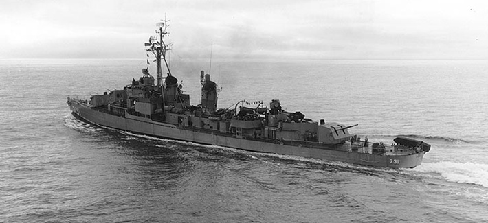 The USS Maddox underway at sea in 1963.