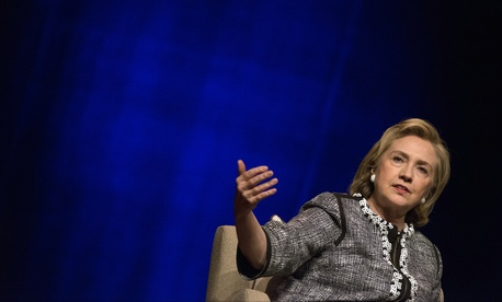 Former Secretary of State Hillary Clinton discusses her new book at an event in Washington D.C., on June 13, 2014.