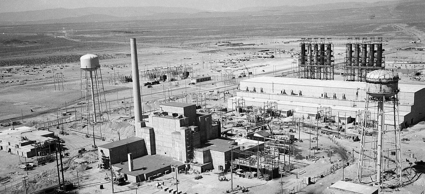 A photo of the Hanford B Reactor Area near Richland, Washington. ,