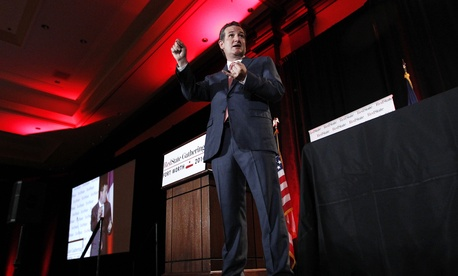 Sen. Ted Cruz, R-Texas, delivers a speech at the 2014 Red State Gathering, on August 8, 2014.