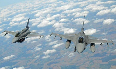 Fighter jets with the NATO Response Force train over Norway.