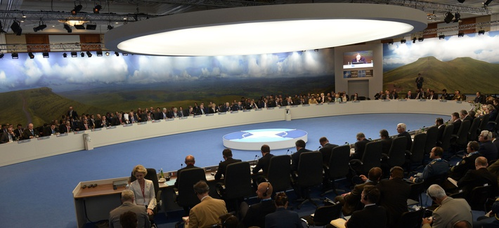 NATO defense secretaries meet during the NATO summit in Wales, on Thursday, Sept. 4, 2014.