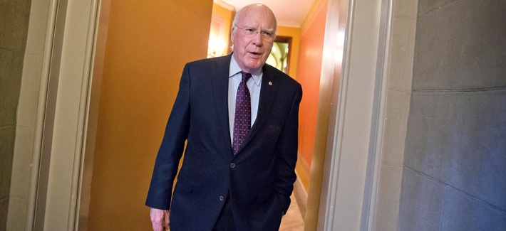 Senate Judiciary Committee Chairman Patrick Leahy, D-Vt., pictured here at the Capitol in Washington, Oct. 14, 2013, introduced a new version of the USA Freedom Act in July, just before Congress broke for the summer recess.