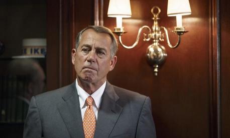 House Speaker Rep. John Boehner, R-Ohio, waits to speak on Capitol Hill on Tuesday.