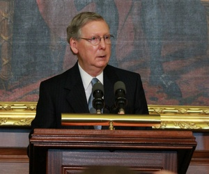 Senate Minority Leader Mitch McConnell said he supports the measure but would like to reconsider it in a few months.