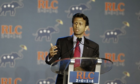 Louisiana Republican Gov. Bobby Jindal addresses the Republican Leadership Conference in New Orleans, La., Thursday, May 29, 2014.