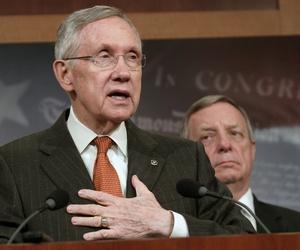Senate Majority Leader Harry Reid, D-Nev., and Sen. Dick Durbin, D-Ill.