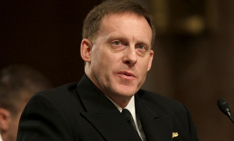 Navy Vice Adm. Michael Rogers testifies on Capitol Hill, March 11, 2014, at a Senate Armed Services Committee hearing to become an admiral and director, NSA/Chief, Central Security Services/Commander, US Cyber Command.