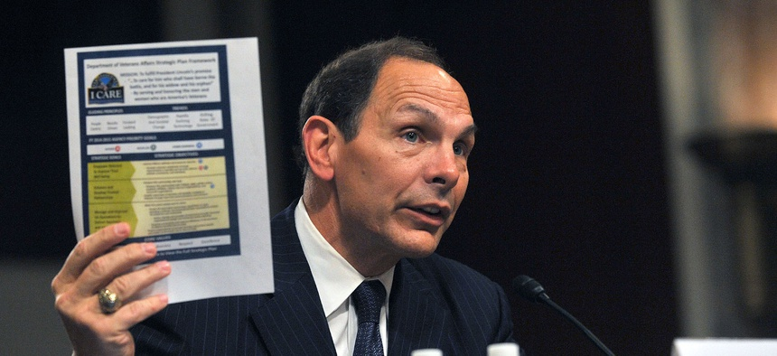 VA Secretary Bob McDonald speaks before the Senate Committee on Veterans Affairs for his confirmation hearings, on July 22, 2014.