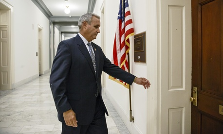 Rep. Jeff Miller, R-Fla., walks to his office on Capitol Hill, on May 28, 2014.