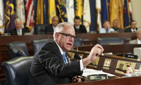 Rep. Tim Walz, D-Minn., questions witnesses from the VA and GAO during a hearing on the veteran health care system.