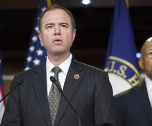 Rep. Adam Schiff, D-Calif., speaks to reporters during a press conference on Capitol Hill.