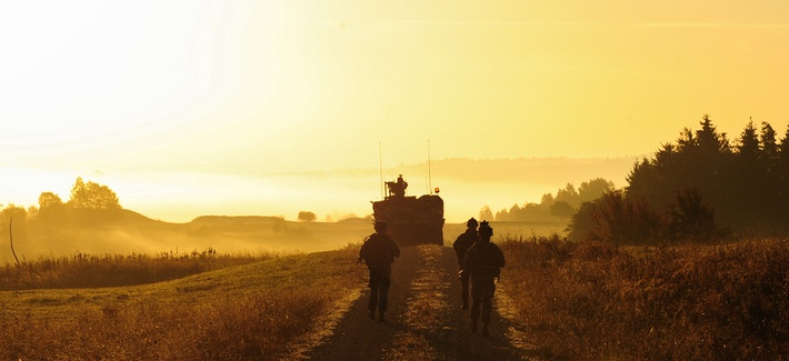 Soldiers of U.S. Army Europe's 2nd Calvary Regiment.