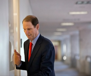 Sen. Ron Wyden, D-Ore., arrives for a closed-door briefing with national security officials, Sept. 5, 2013, on Capitol Hill. Wyden has been one of the loudest critics of NSA spying.