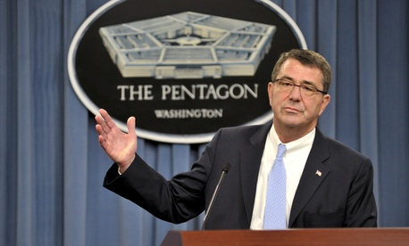 Ashton Carter, as deputy defense secretary, at the Pentagon in November 2013.