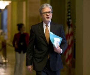 Sen. Tom Coburn, R-Okla., walks towards the Senate chamber on Capitol Hill, on December 31, 2012.