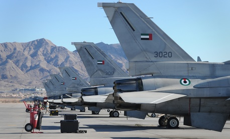 United Arab Emirates F-16 fighters at a Red Flag exercise in the U.S.