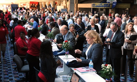 Seen here is a VA hosted Veteran Hiring Fair at the National Veteran Small Business Conference and Expo in Detroit, Michigan, on June 26, 2012.