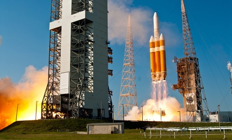 An NRO satellite launches from Cape Canaveral, Florida.