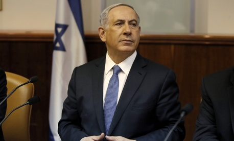 Israel's Prime Minister Benjamin Netanyahu chairs the weekly cabinet meeting in Jerusalem, on Feb. 1, 2015.