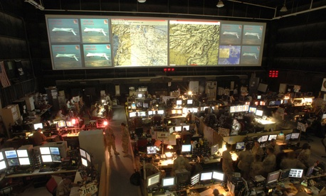 A photo of a combined air operations center.
