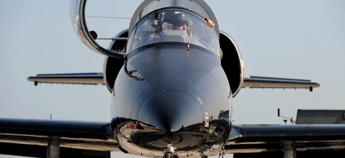 A T-38 pilot prepares to take off.