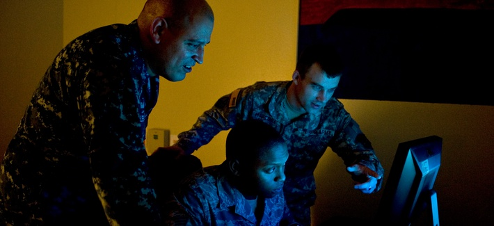 U.S. cyber analysts conduct exercise Cyber Flag 13-1, Nov. 8, 2012, at Nellis Air Force Base, Nev.