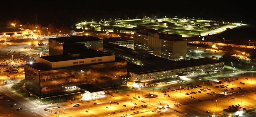 The outside of the National Security Agency's main headquarters, at Fort Meade, Maryland.