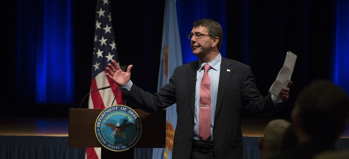 Defense Secretary Ash Carter tells Pentagon employees how he plans to lead, in his first public remarks in the job. February 19, 2015