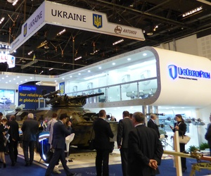 The Ukrainian pavilion at IDEX 2015.