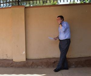 Then Deputy Secretary of Defense Ash Carter calls Ugandan president Yoweri Museveni, on July 23, 2013.