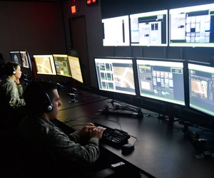 U.S. Air Force intelligence analysts at Wright-Patterson Air Force Base, Ohio, Oct. 15, 2014.
