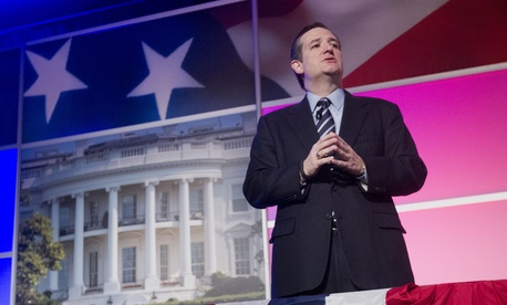 Sen. Ted Cruz, R-Texas speaks at the International Association of Firefighters (IAFF) Legislative Conference and Presidential Forum in Washington, Tuesday, March 10, 2015.