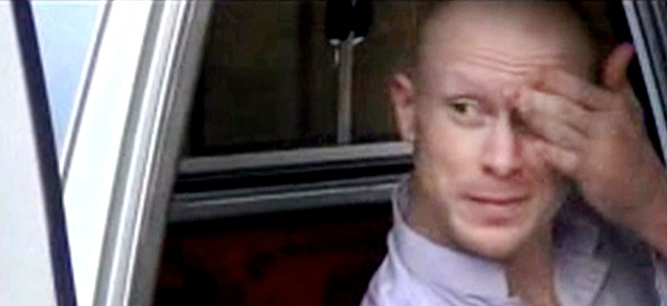 Seen here, Sgt. Bowe Bergdahl sits in the back of a car after being taken by U.S. troops as part of a prisoner exchange.