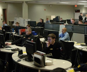 Sailors on the watch floor of the Navy Cyber Defense Operations Command monitor unauthorized activity within U.S Navy information systems and networks.
