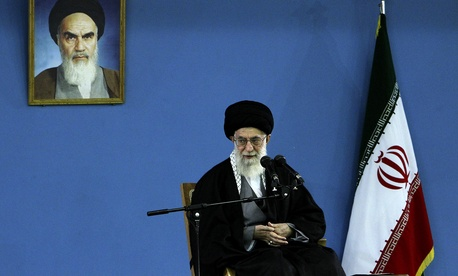 Iran's Supreme Leader Ayatollah Ali Khameini delivers a speech in Tehran, on February 17, 2014.