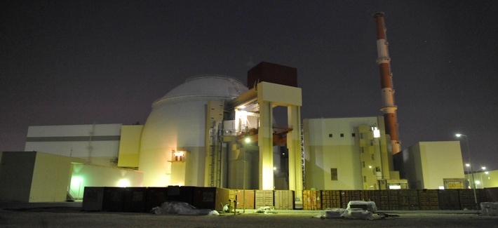 In this file photo released on Nov. 30, 2009 by the semi-official Iranian Students News Agency (ISNA), the reactor building of Iran's Bushehr Nuclear Power Plant is seen, just outside the port city of Bushehr, Iran.