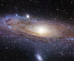 One of our galactic neighbors, the Andromeda Galaxy is located about two-million light years away.