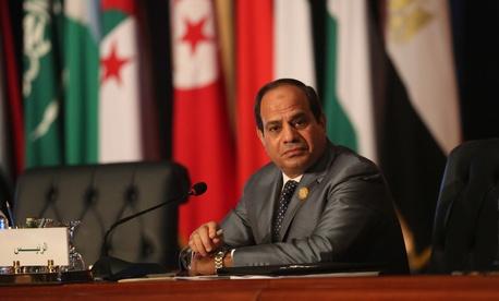 Egyptian President Abdel Fattah al-Sisi chairs an Arab foreign ministers meeting during an Arab summit in Sharm el-Sheikh, South Sinai, Egypt, Sunday, March 29, 2015.