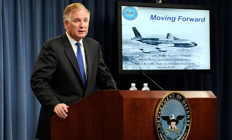 Then-Deputy Secretary of Defense William Lynn speaks at the Pentagon Sept. 24, 2009.