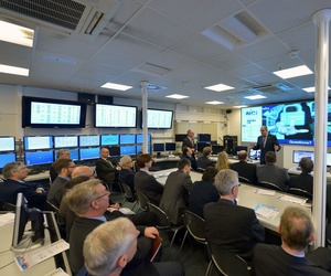 Members of the North Atlantic Council visit NATO cyber security center in Tallinn, Estonia, Jan. 23, 2015.