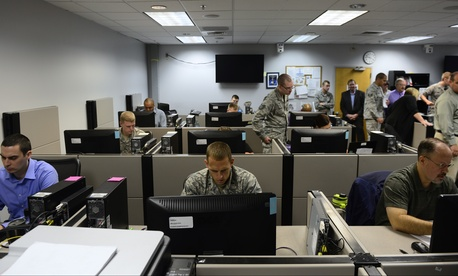 The 39th Information Operation Squadron conducts a Network War Bridge Course, on Sept. 19, 2014.