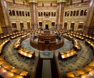 The main reading room at the Library of Congress.