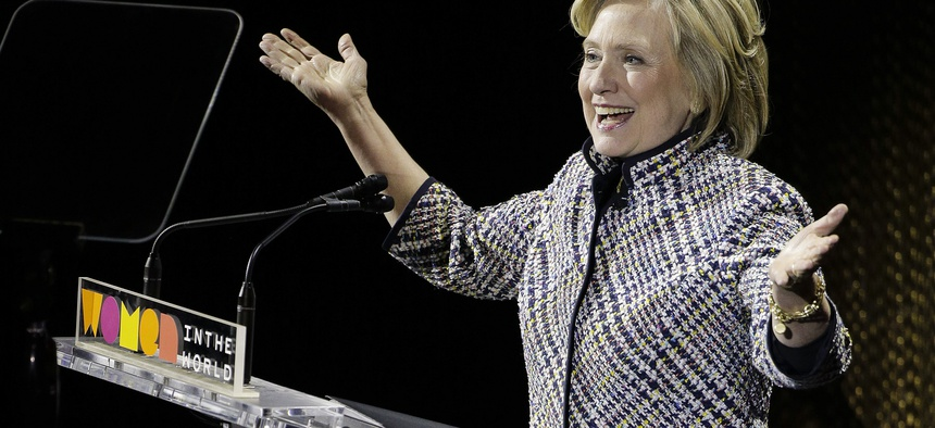 Hillary Clinton speaks during the sixth annual Women in the World Summit, Thursday, April 23, 2015, in New York.
