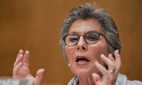 Sen. Barbara Boxer, D-Calif. questions a panel of witnesses on Dec. 3, 2014.