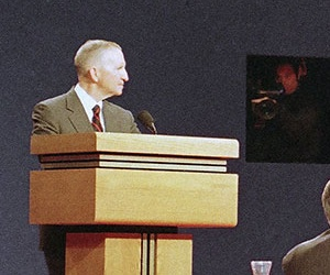 The 1992 election featured, from left, Ross Perot, Bill Clinton and George H.W. Bush in debates.