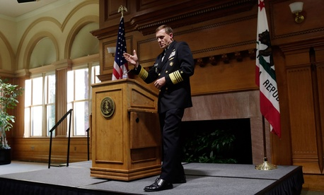National Security Agency director Mike Rogers speaks at Stanford University, Monday, Nov. 3, 2014, in Stanford, Calif.
