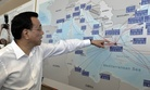 Chinese Prime Minister Li Keqiang looks at a map of the port of Piraeus, where Chinese shipping giant Cosco controls two of the three container terminals, on Friday June 20, 2014.